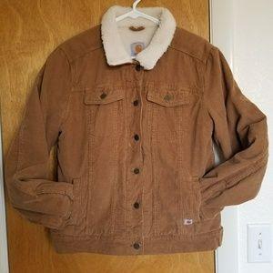 Sherpa lined Carhartt coat jacket